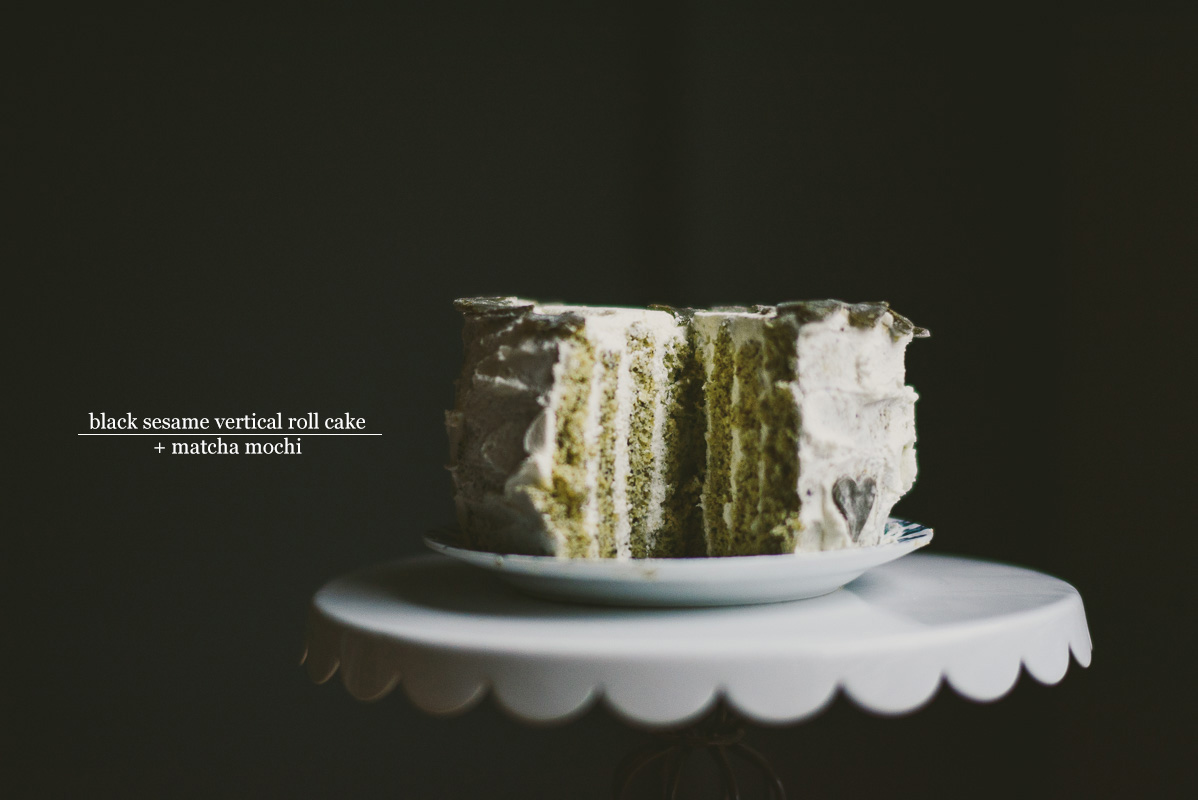 Black Sesame Vertical Roll Cake Matcha Mochi 187 Betty L