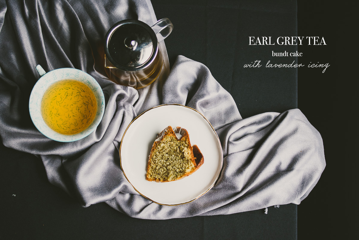 Earl Grey Chocolate Cake With Lavender Icing