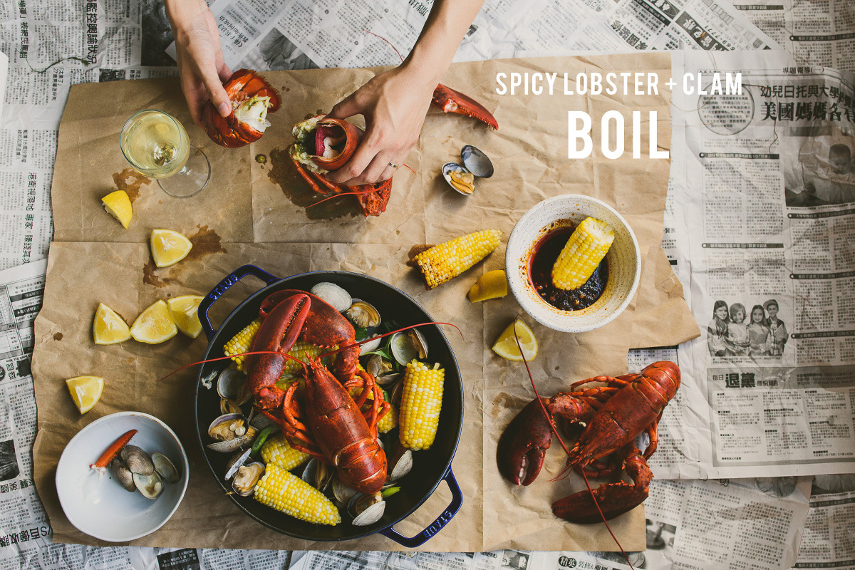 Spicy Lobster + Clam Boil » Betty L