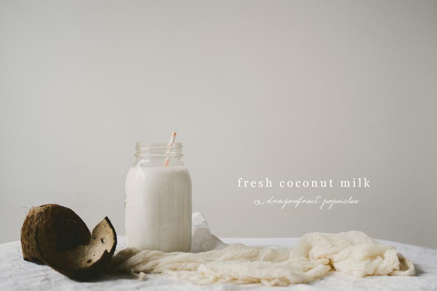 coconut milk  | le jus d