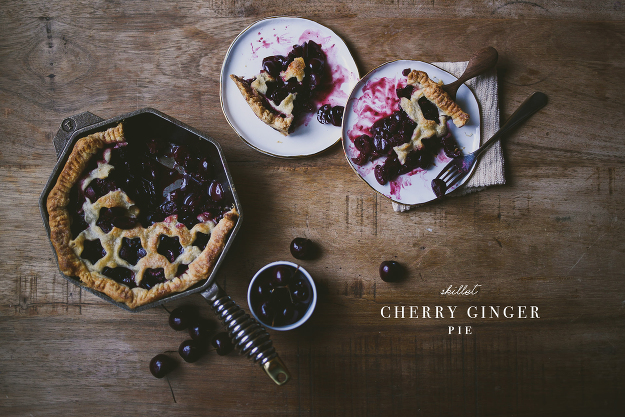 Ginger Cherry Skillet Pie Finex | le jus d