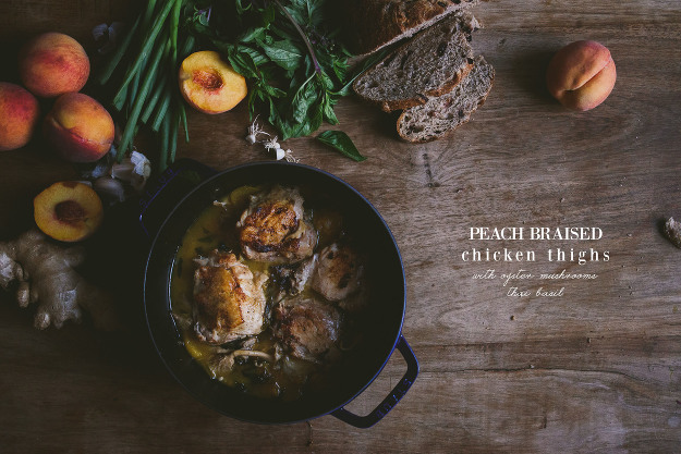 peach-braised-chicken-thighs | le jus d