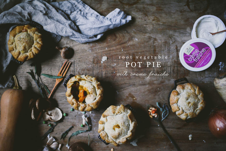 Crème fraîche Root Vegetable Pot Pies | bettysliu.com