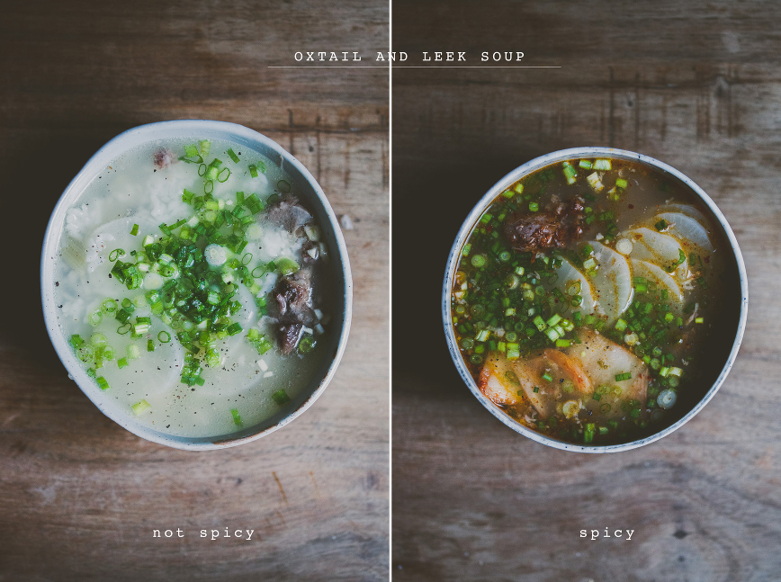 OXTAIL LEEK bone soup | bettysliu.com