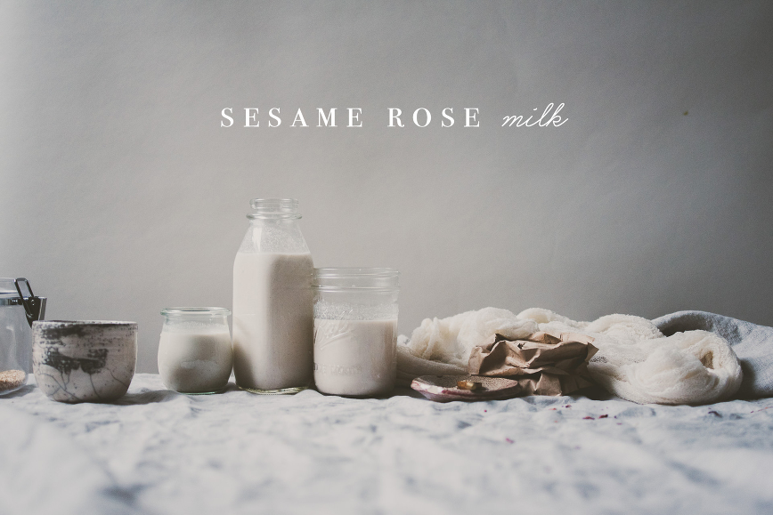 Sesame Rose Milk | bettysliu.com