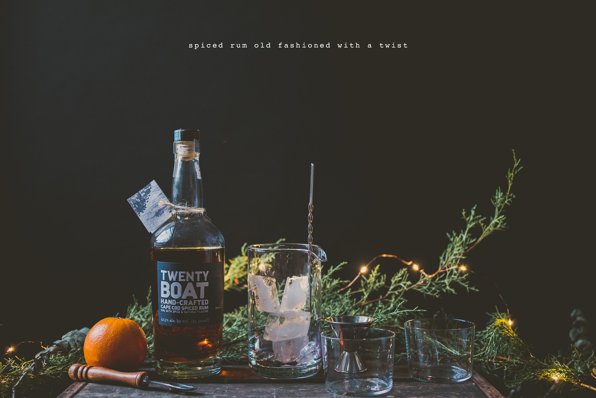 Spiced Rum Old Fashioned with a Twist + Distillery Tour! » Betty L