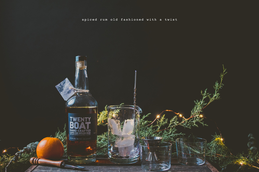 Spiced Rum Old Fashioned with a Twist| bettysliu-2 copy