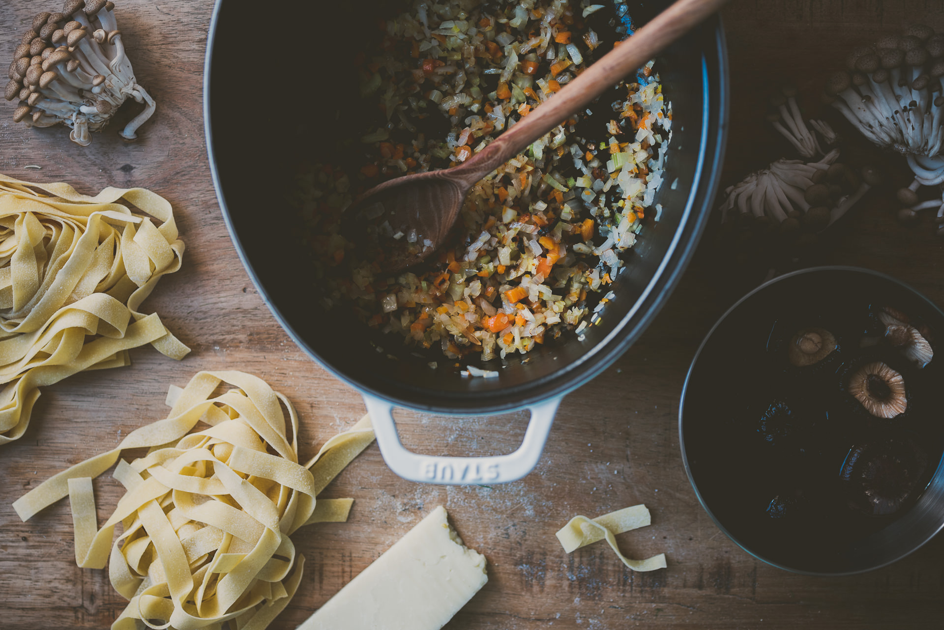 Hearty Rabbit and Mushroom Sugo with Pappardelle » Betty L