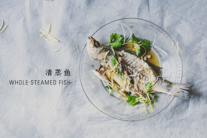 Chinese whole steamed fish | bettysliu.com
