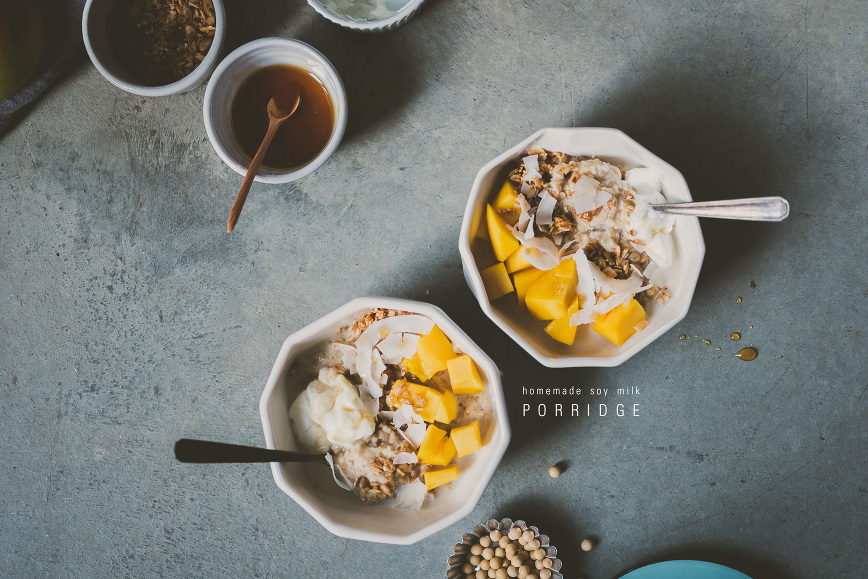 homemade soy milk porridge | bettysliu.com