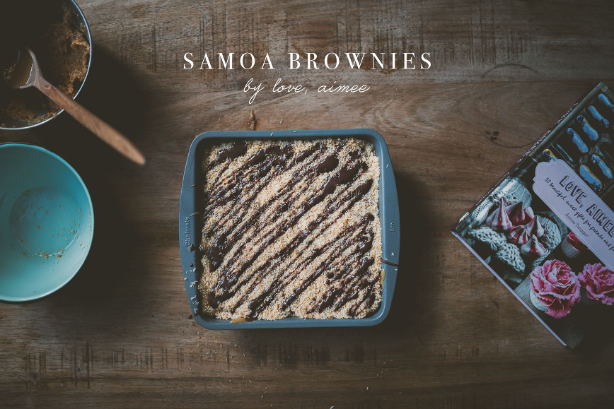 Samoa Brownies by Love, Aimee | bettysliu.com