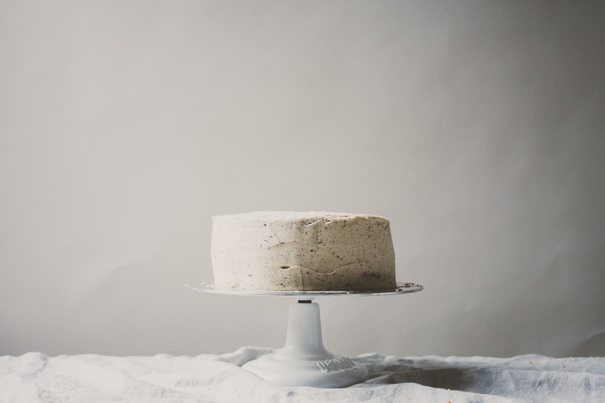 grapefruit cake with earl grey buttercream frosting | bettysliu.com