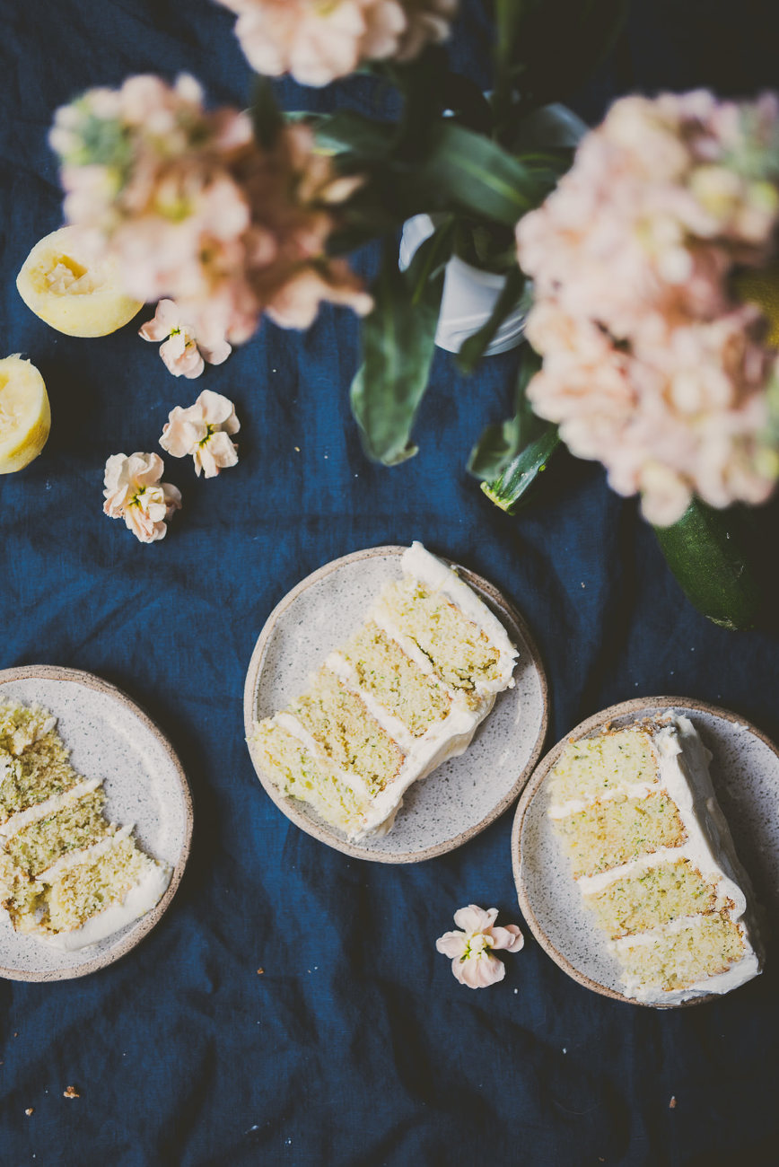 Zucchini Lemon Cake | bettysliu.com