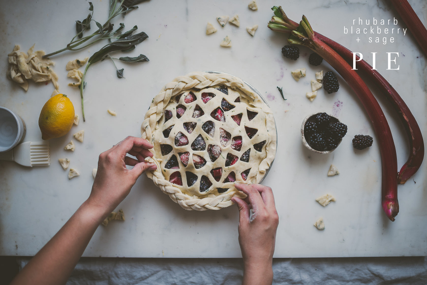 Rhubarb Blackberry Sage Pie | bettysliu-10 copy