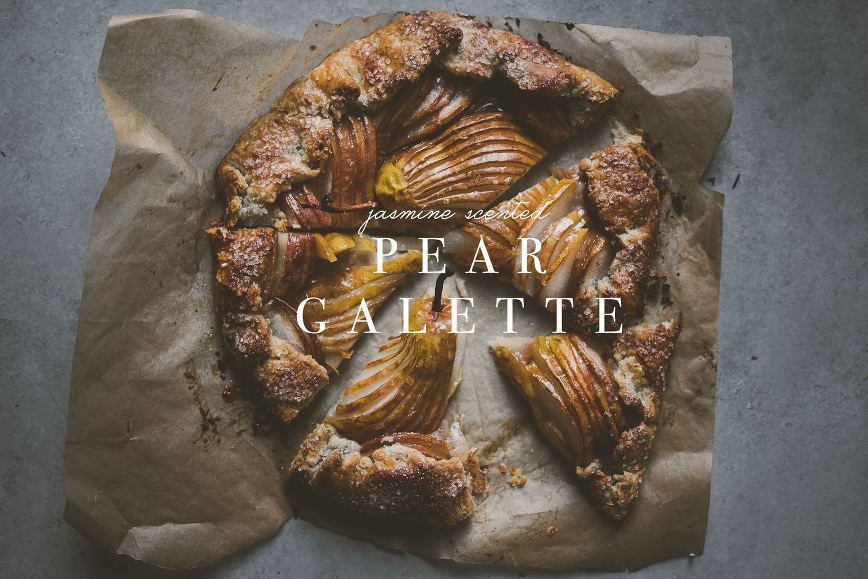 Tea Scented Pear Galette | bettysliu.com
