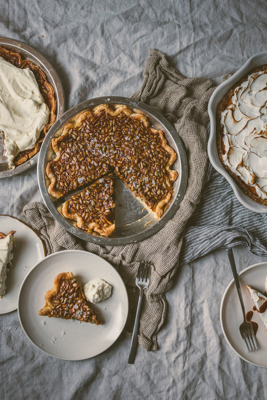 salty honey seed pie | bettysliu.com