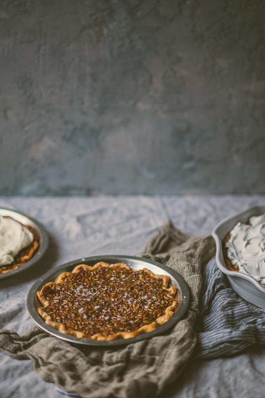 Salty Honey Seed Pie Nut-free | bettysliu.com