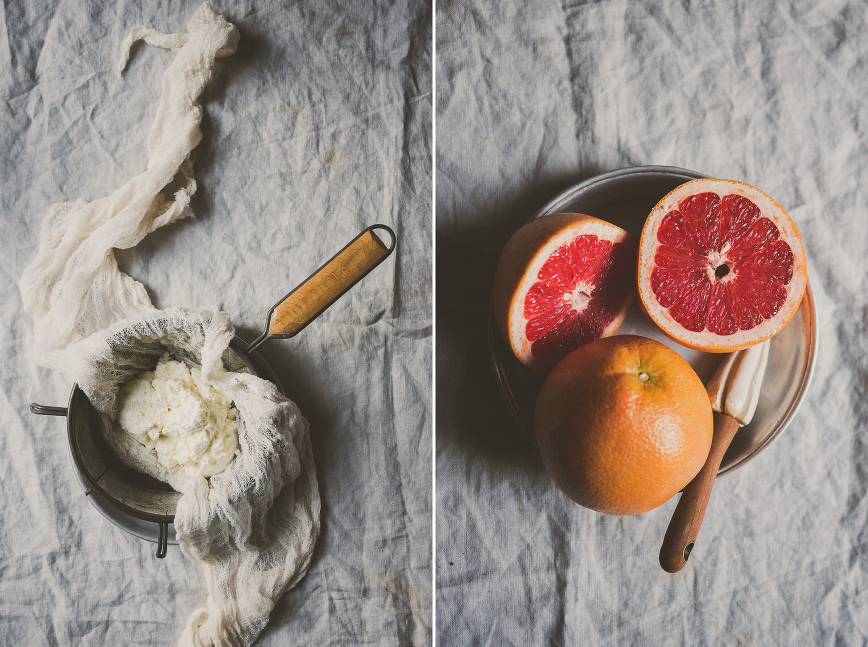 Grapefruit Cinnamon Ricotta Ice Cream | bettysliu.com