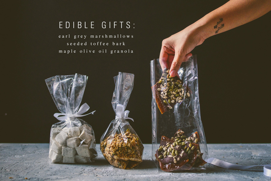 Edible Gifts Earl Grey Marshmallows Seeded Toffee Bark Maple
