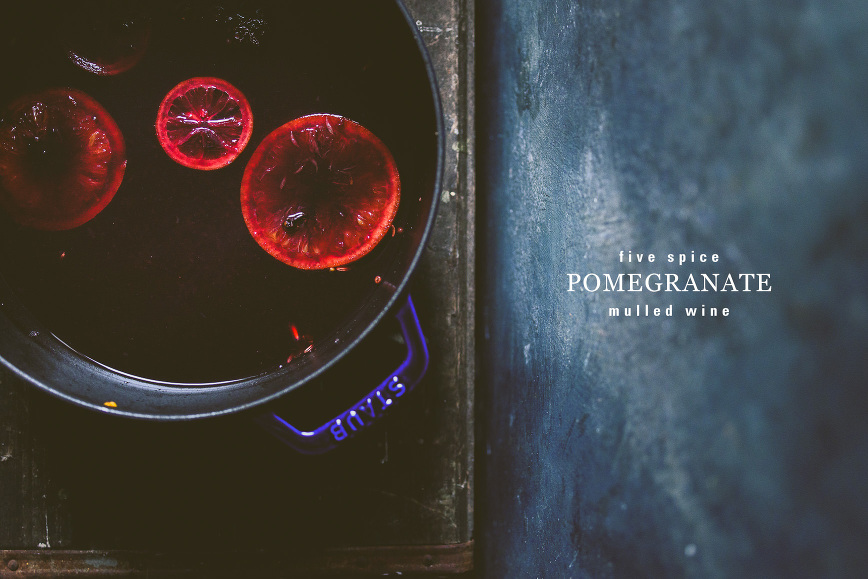 Five Spice Pomegranate Mulled Wine | bettysliu.com