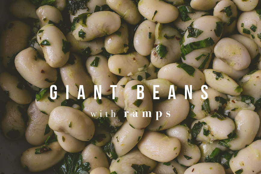Giant Bean with Ramps | bettysliu.com