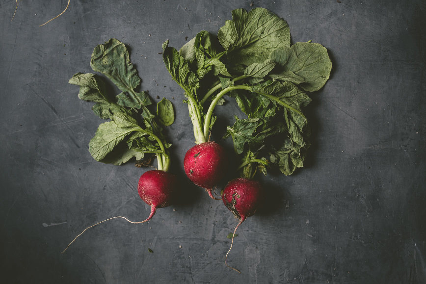 stovetop radishes mint miso yogurt | bettysliu.com