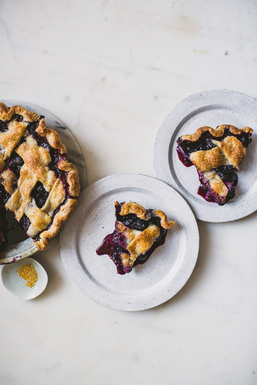 Blueberry Yuzu Pie | bettysliu.com